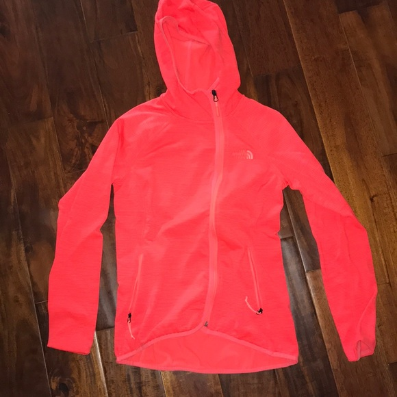 a5cf8c33104ed North Face Jackets & Coats | Womens Bright Orange Zip Up Jacket ...
